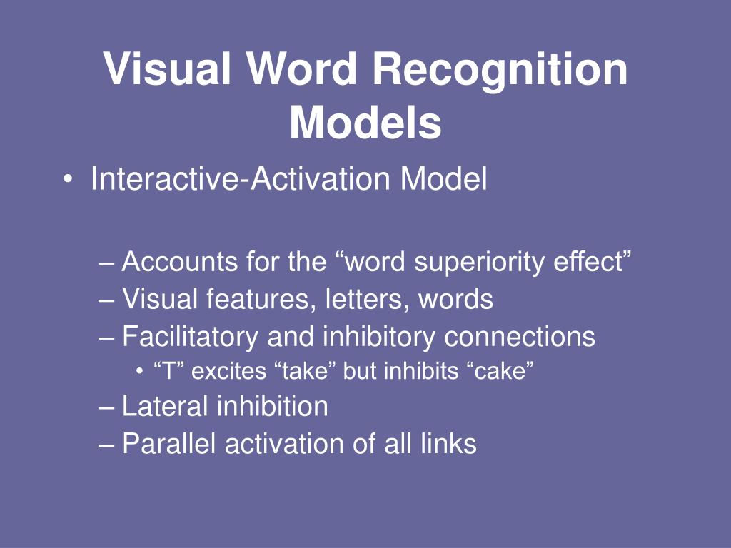 Visual Word Recognition Models