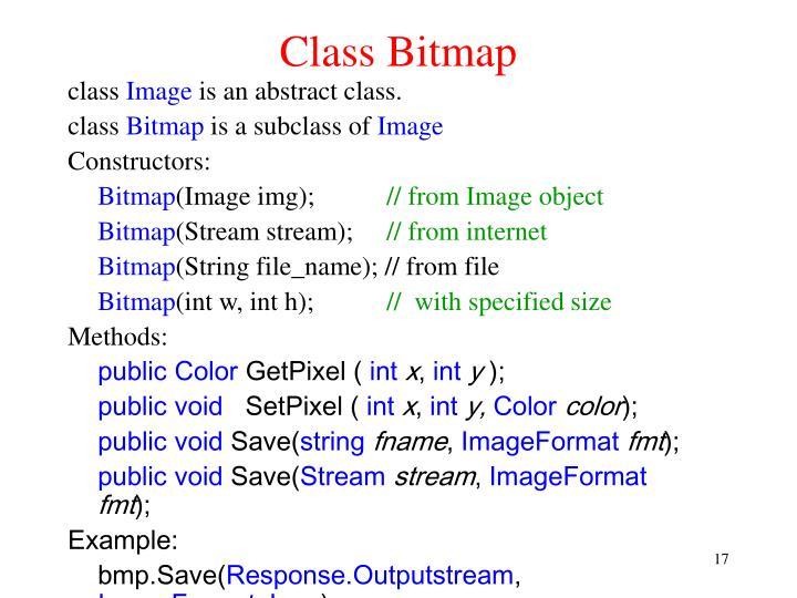 Class Bitmap