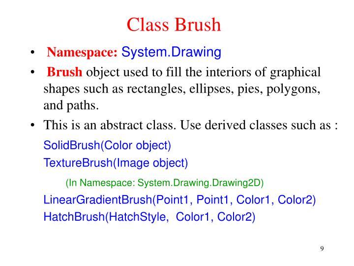 Class Brush