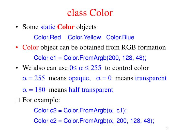 class Color