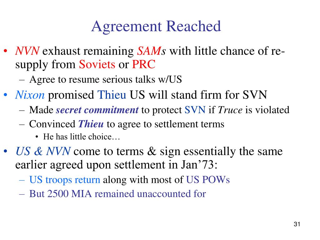 Agreement Reached