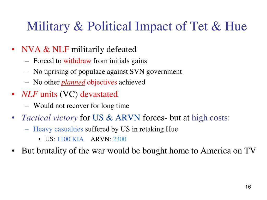 Military & Political Impact of Tet & Hue