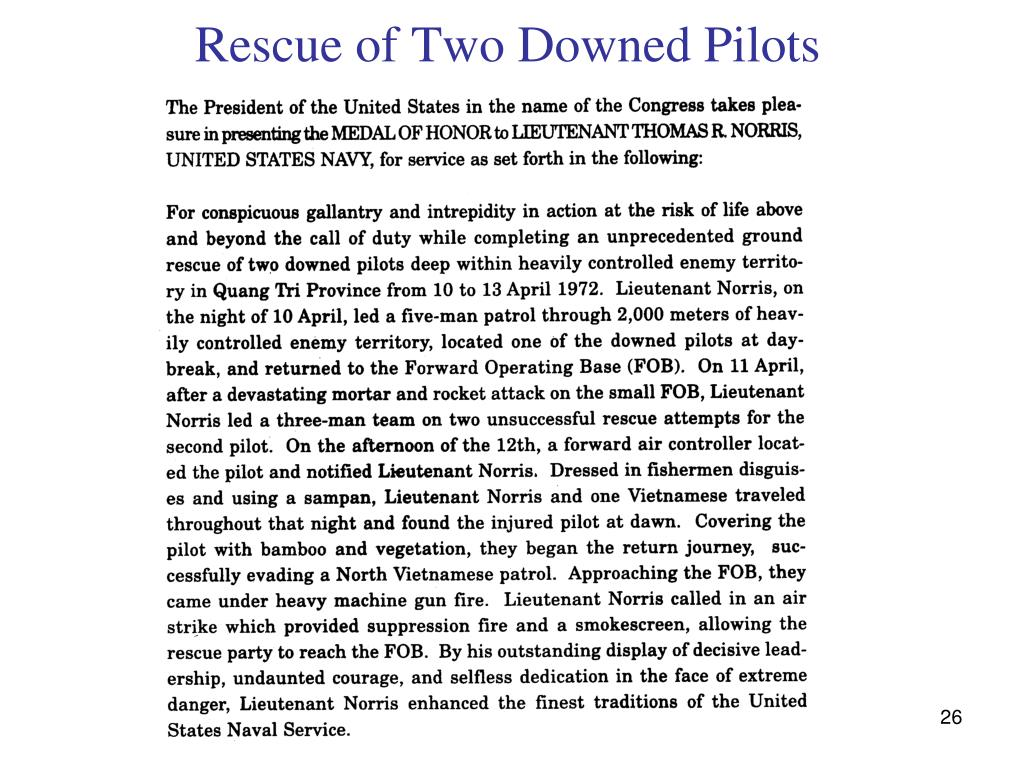 Rescue of Two Downed Pilots