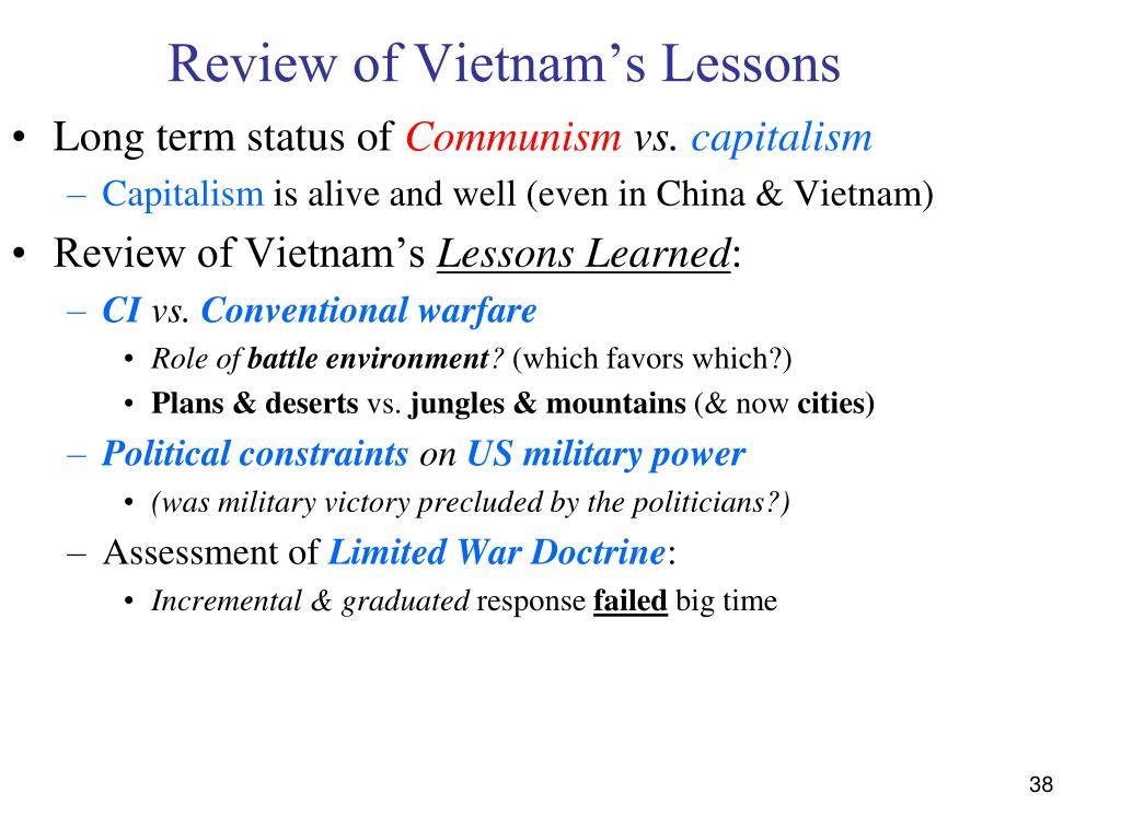 Review of Vietnam's Lessons