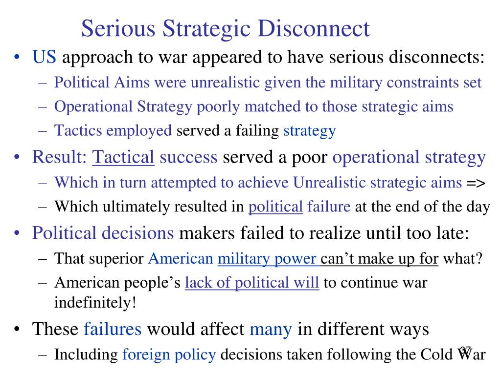 Serious Strategic Disconnect
