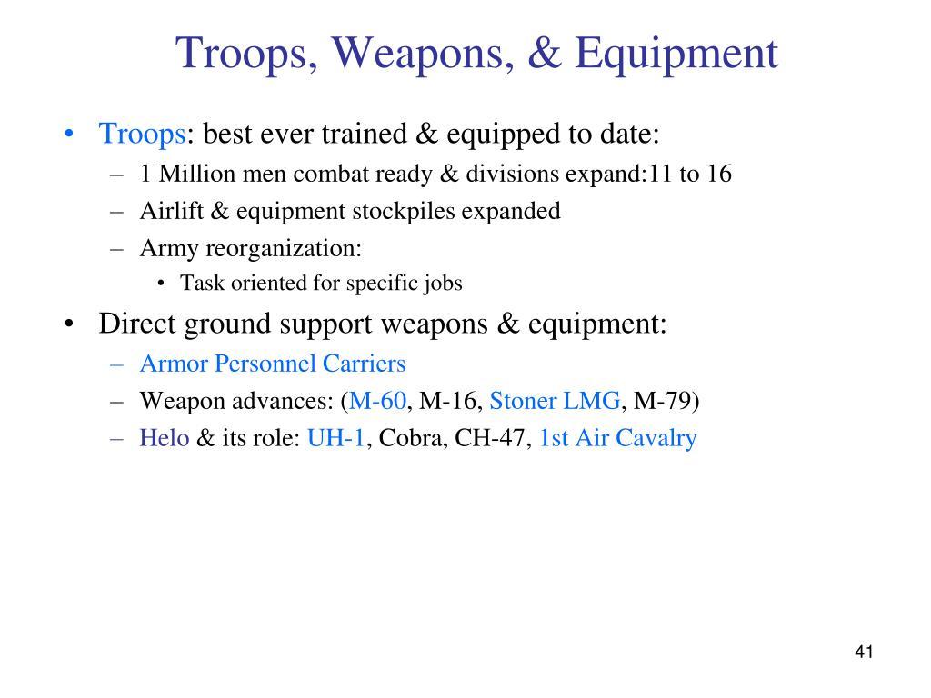 Troops, Weapons, & Equipment