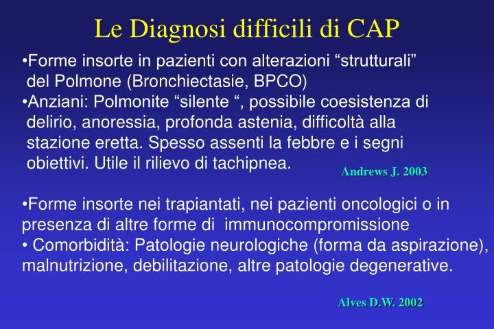 Le Diagnosi difficili di CAP