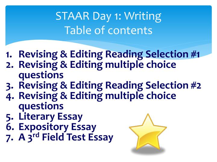 expository essay test questions