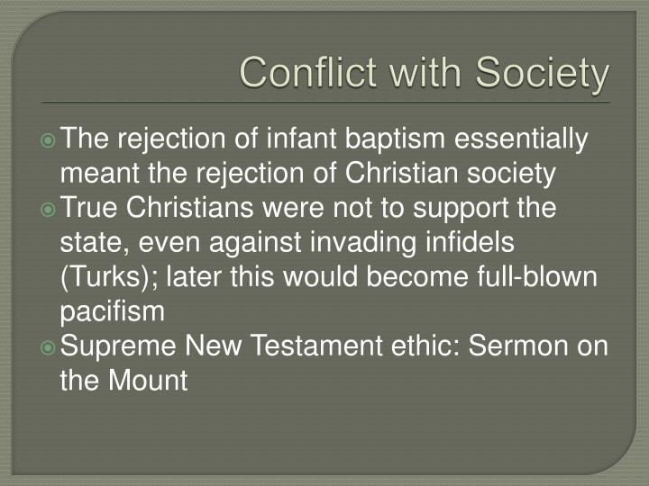 Conflict with Society