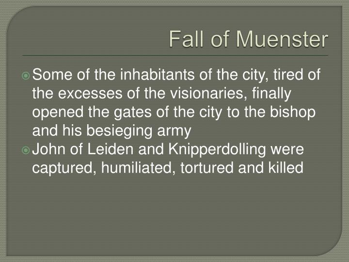 Fall of Muenster
