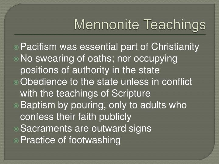 Mennonite Teachings