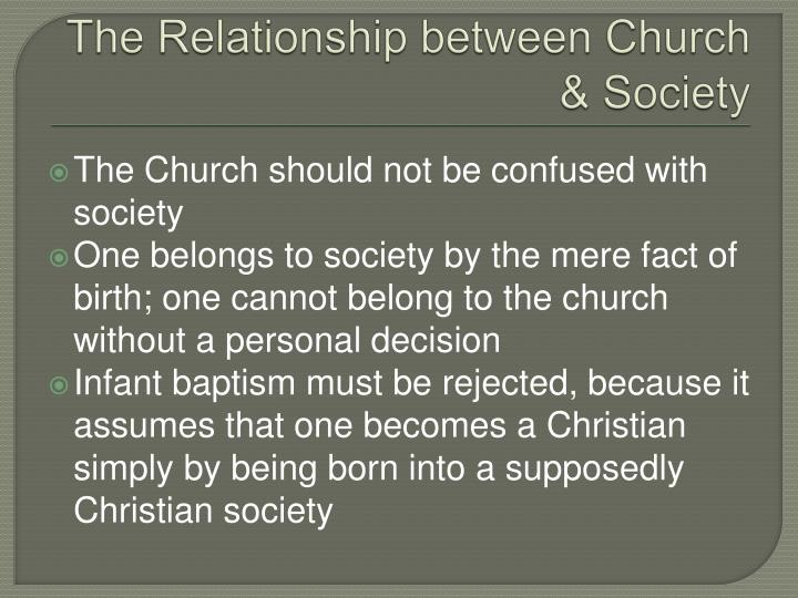 The Relationship between Church & Society