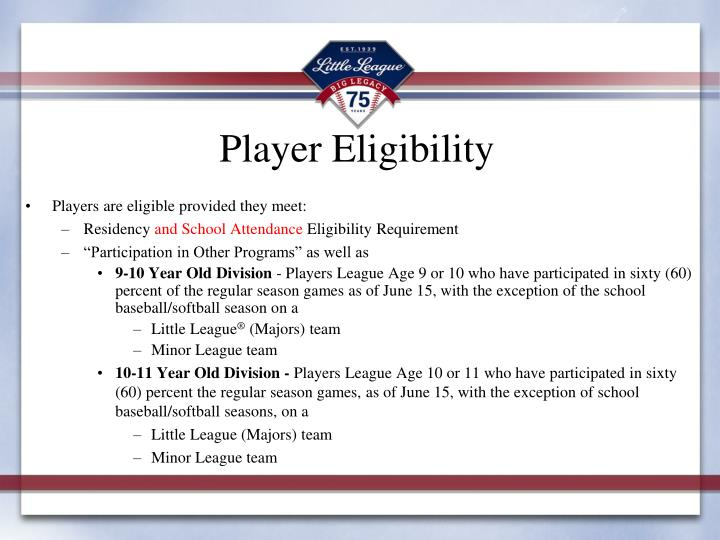 Player Eligibility
