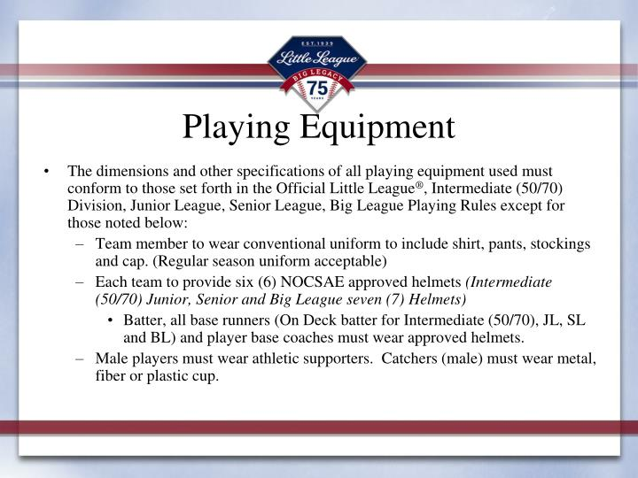 Playing Equipment