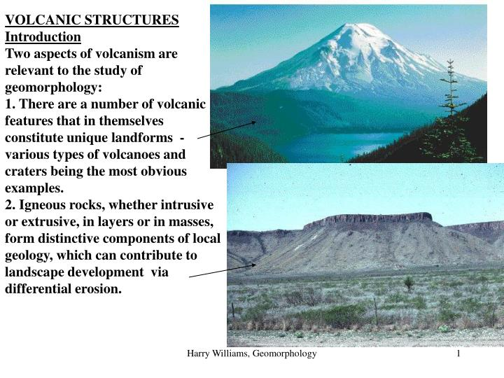 VOLCANIC STRUCTURES