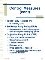 Guide to tactical perimeter defense