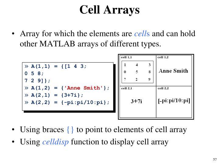 Cell Arrays