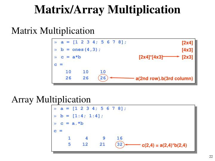 Matrix/Array Multiplication