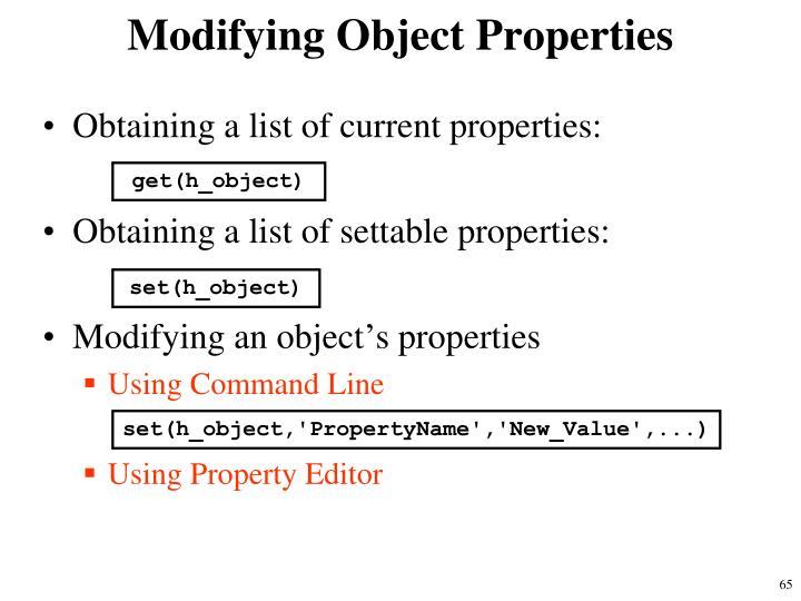 Modifying Object Properties