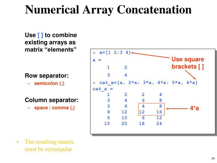 Numerical Array Concatenation