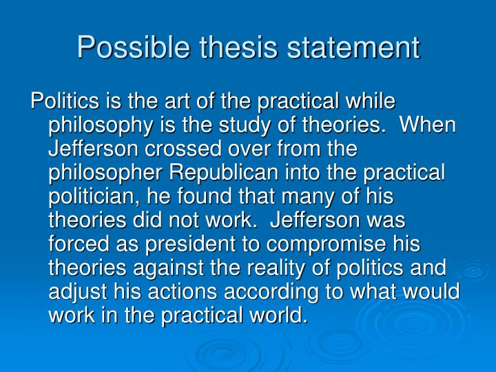 Possible thesis statement