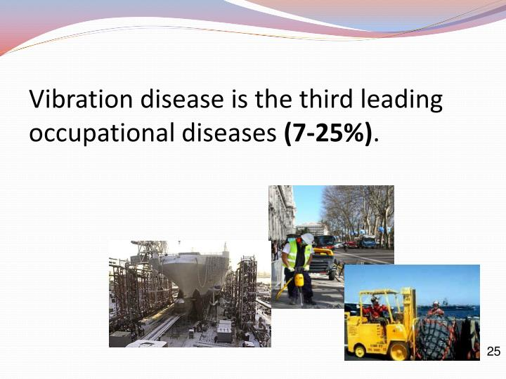 Vibration disease is the third leading occupational diseases