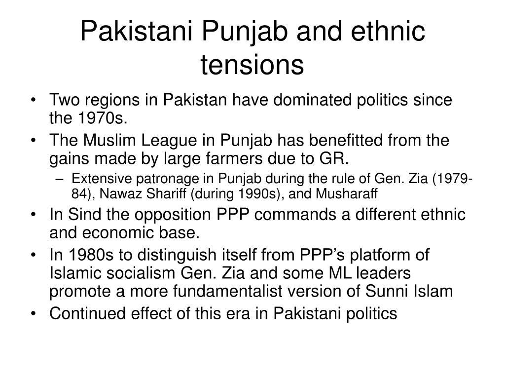 Pakistani Punjab and ethnic tensions