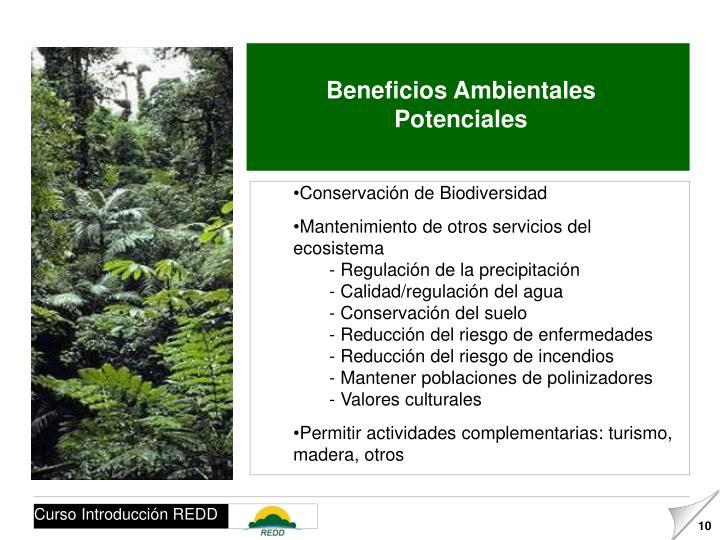 Beneficios Ambientales Potenciales