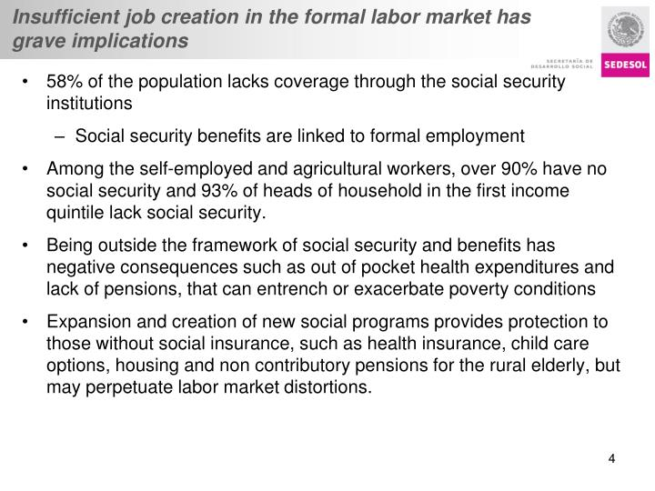 Insufficient job creation in the formal labor market has