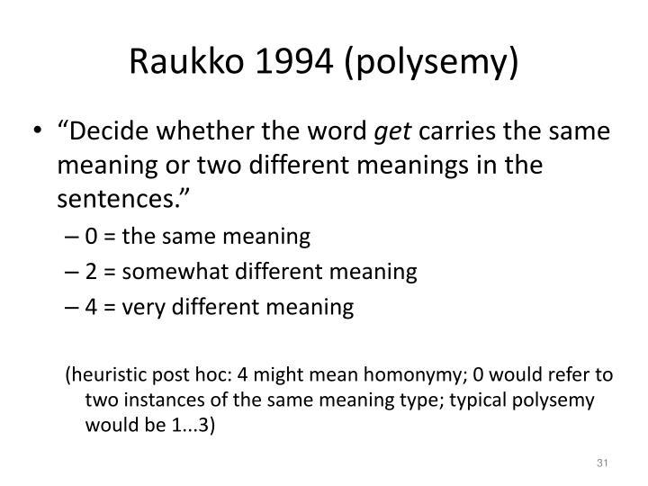 Raukko 1994 (polysemy)