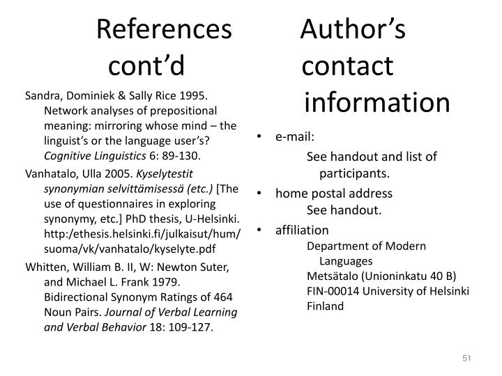 References      Author's