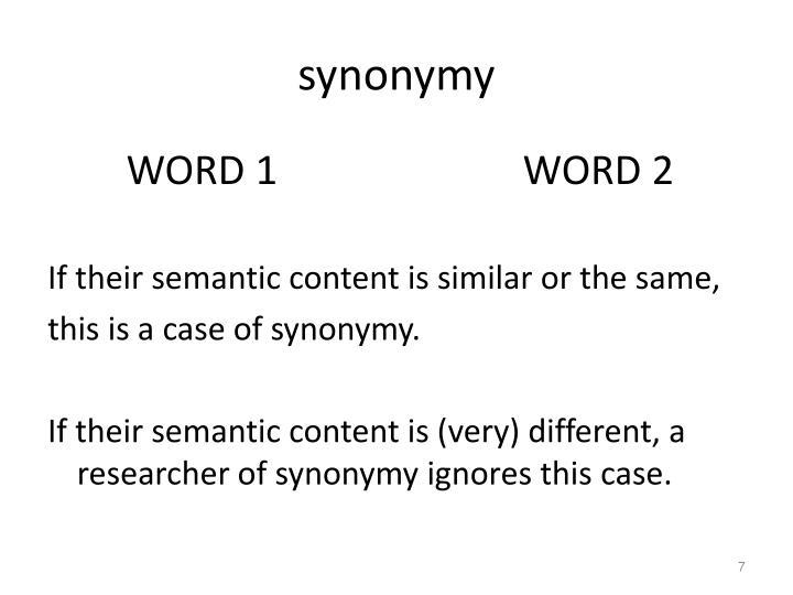 synonymy