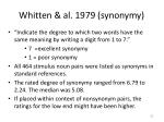 whitten al 1979 synonymy