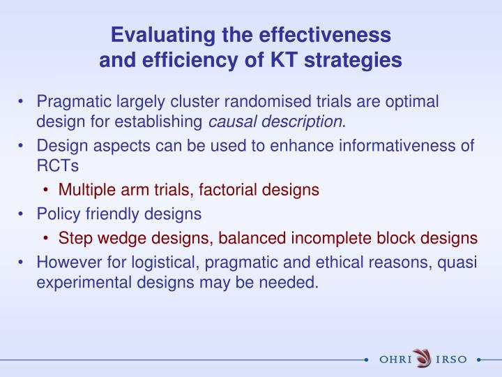 Evaluating the effectiveness