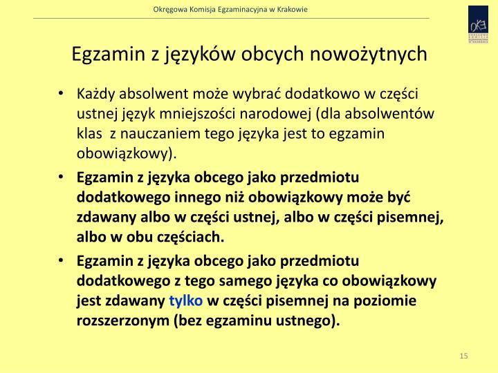 Egzamin z języków obcych nowożytnych