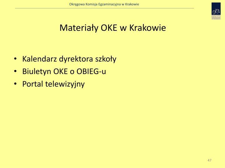 Materiały OKE w Krakowie