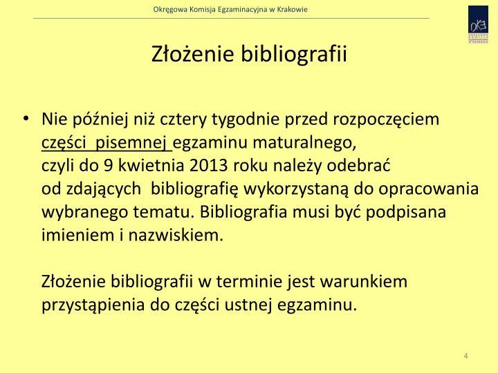 Złożenie bibliografii