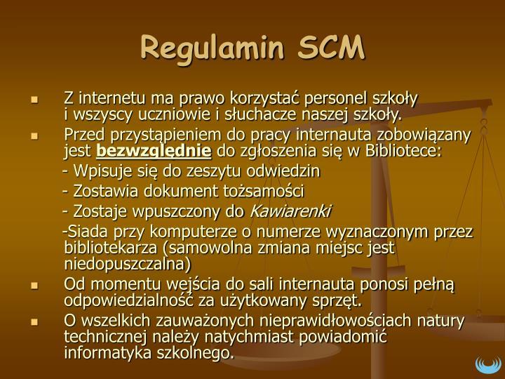 Regulamin SCM
