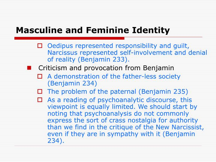 Masculine and Feminine Identity