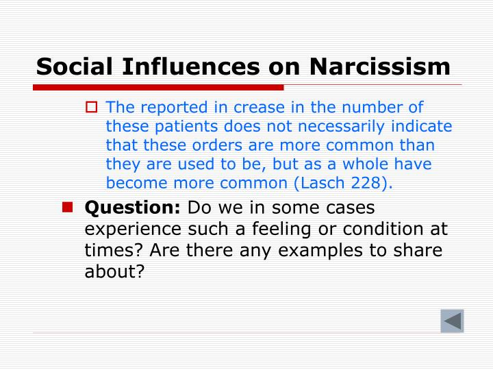 Social Influences on Narcissism