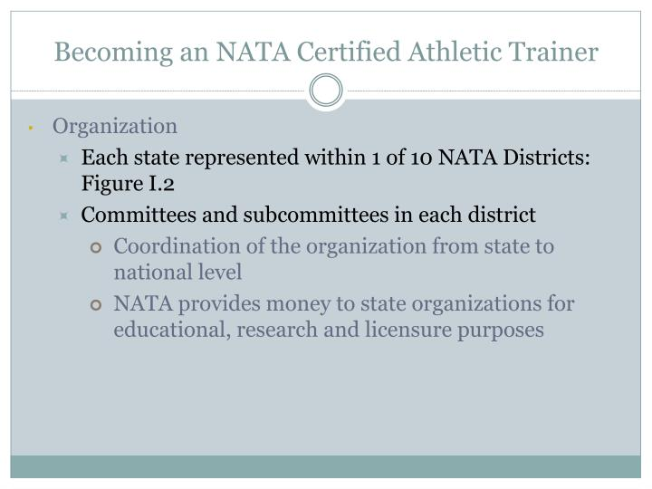 Becoming an NATA Certified Athletic Trainer