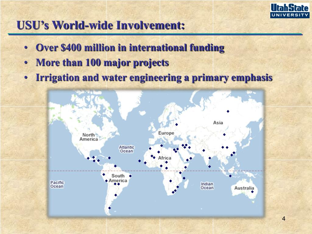 USU's World-wide Involvement: