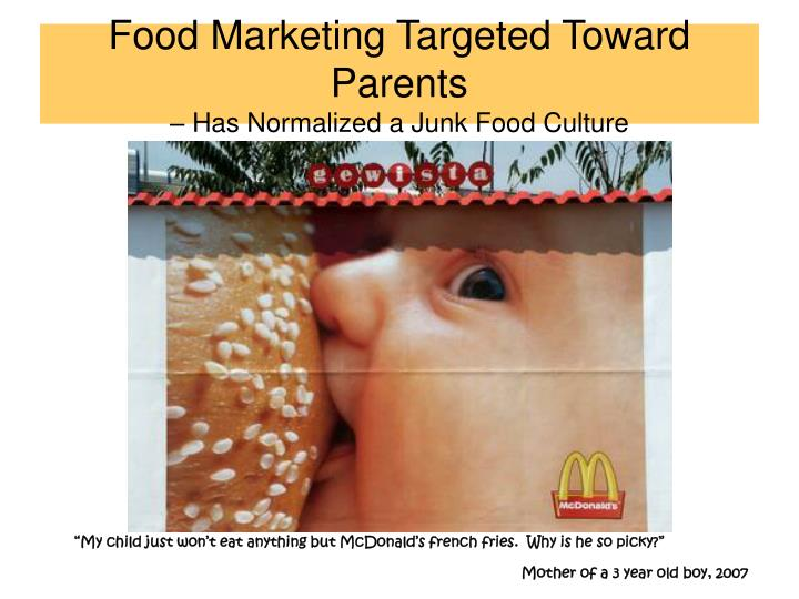 Food Marketing Targeted Toward Parents