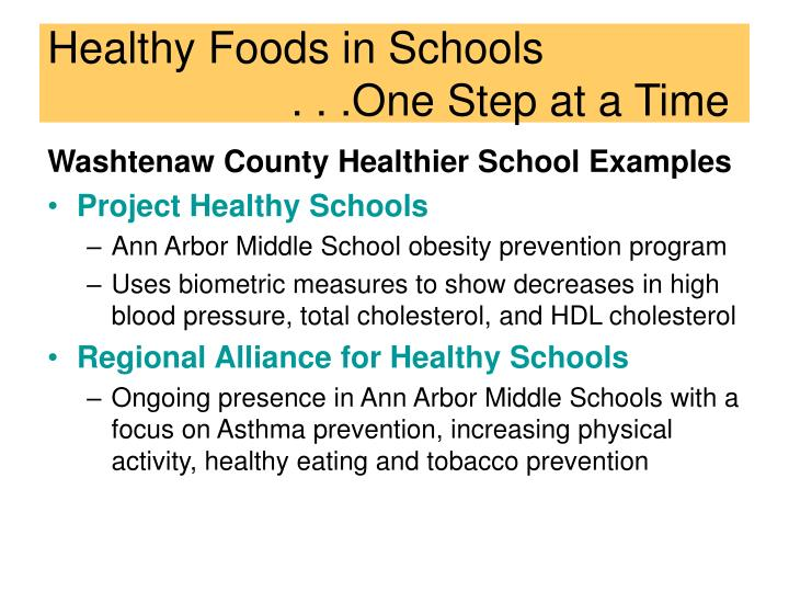 Healthy Foods in Schools