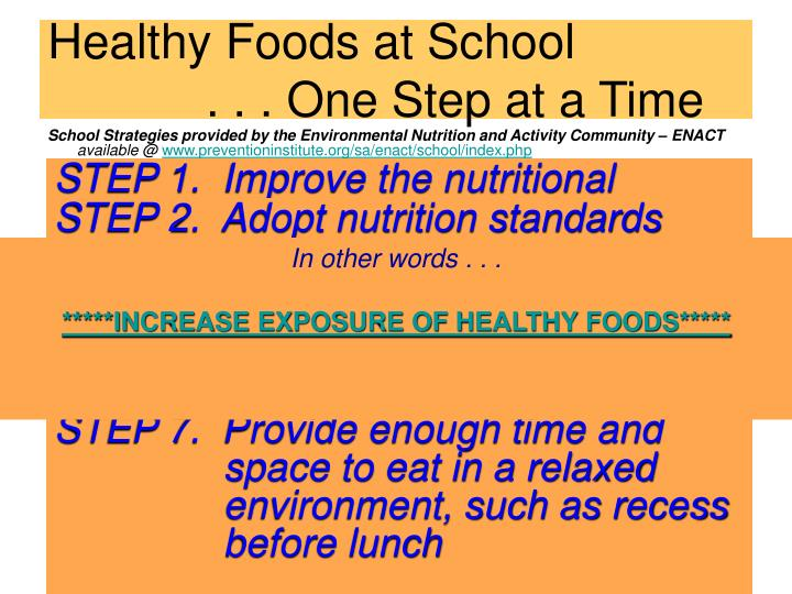 Healthy Foods at School