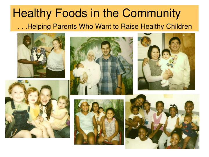 Healthy Foods in the Community