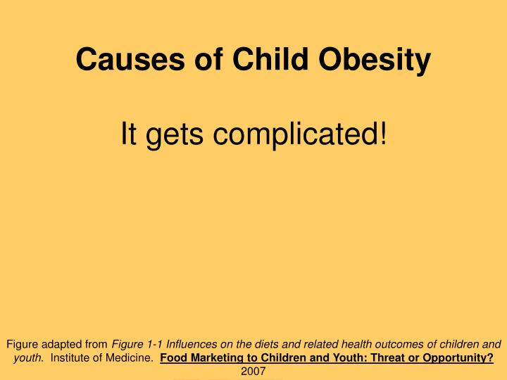 Causes of Child Obesity