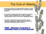 the cost of obesity