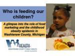 who is feeding our children