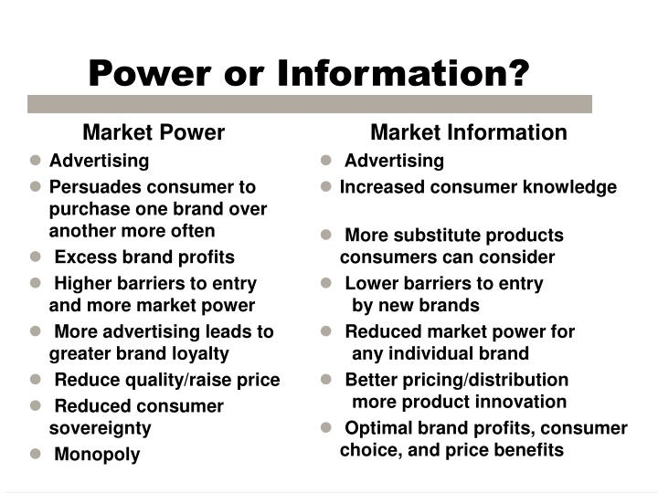 Power or Information?